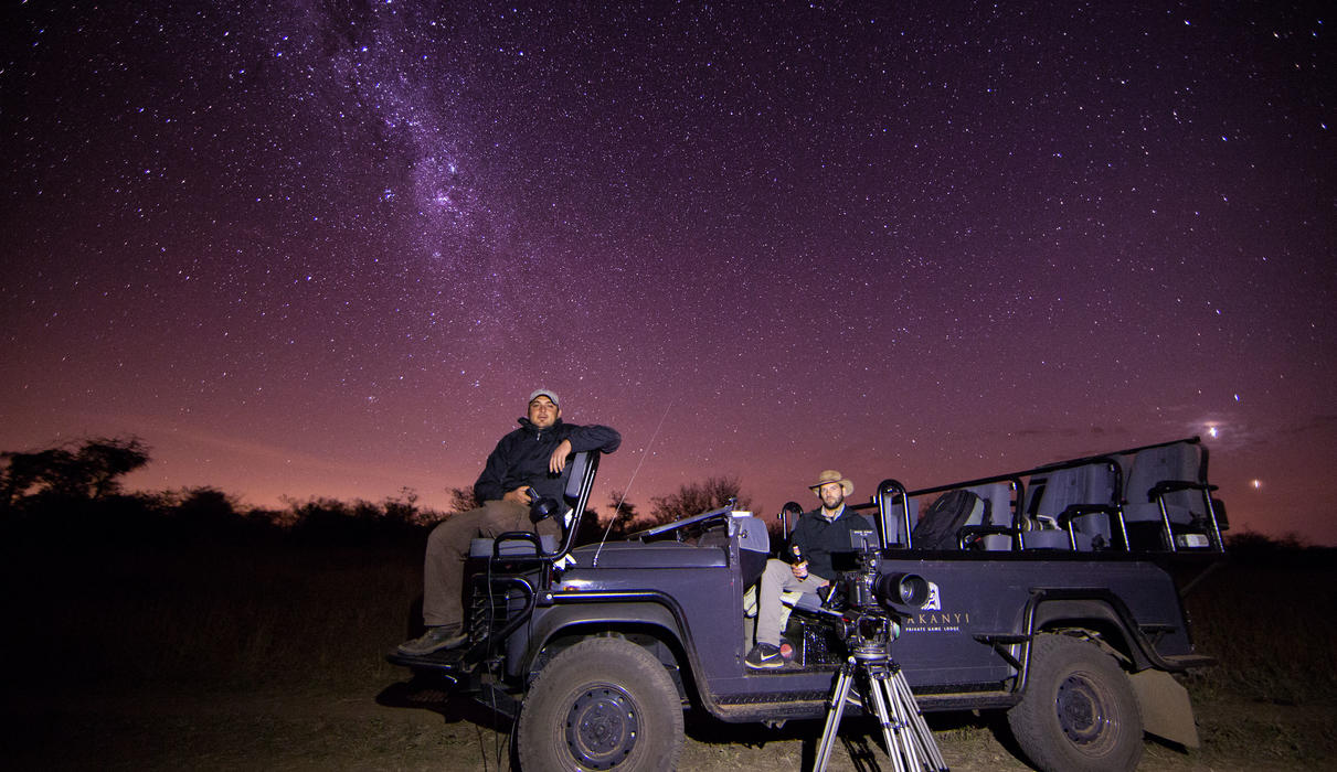 Star gazing under the magnificent African sky