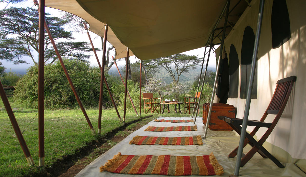 Veranda of the tent