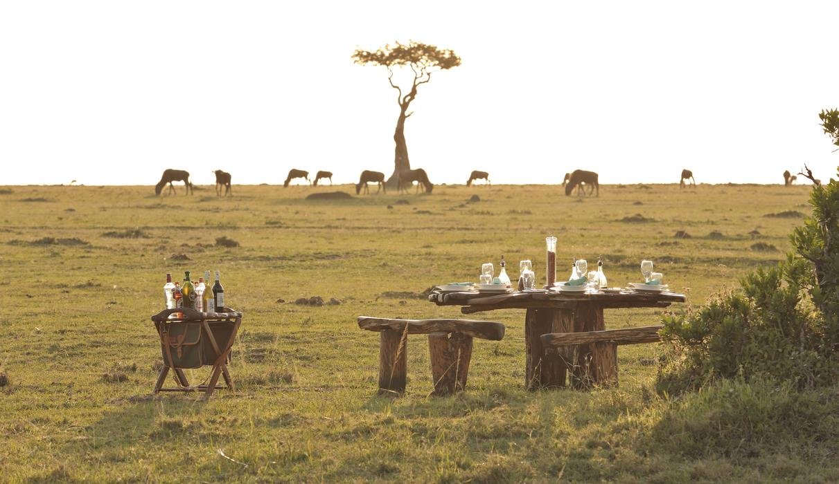 Bush meal with view of wildlife