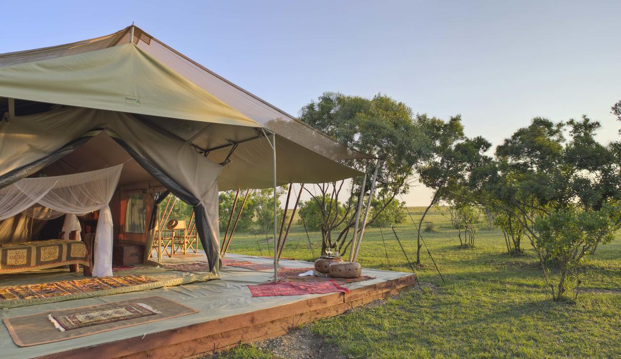 One of the three luxury tents