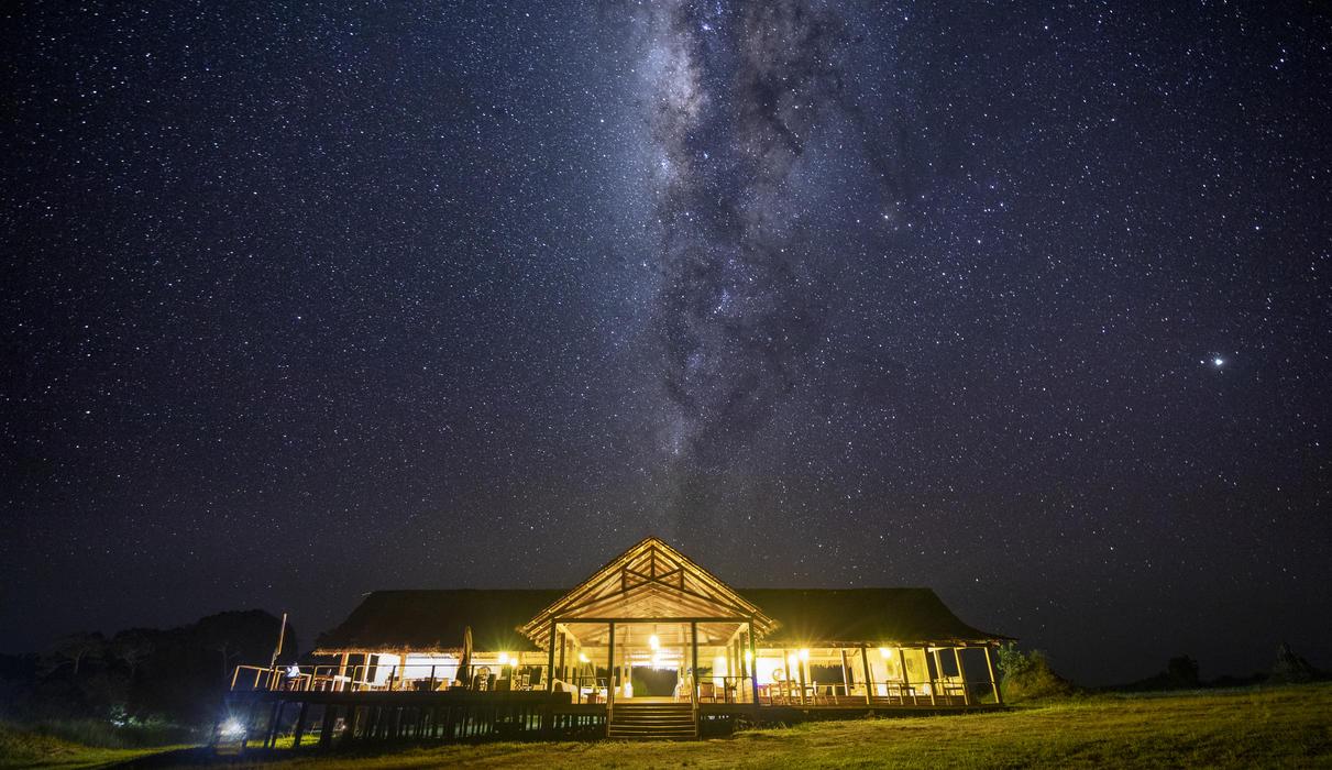 Mboko Camp at night