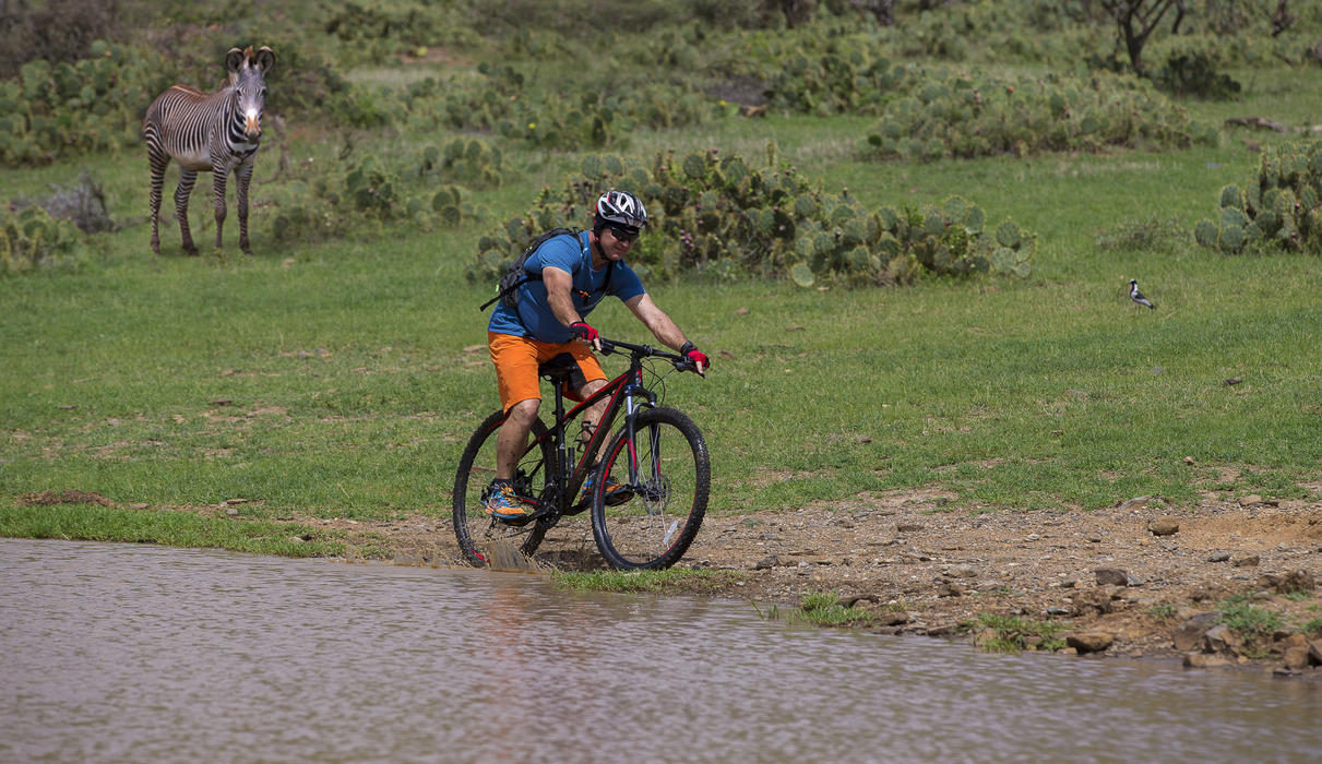 Exploring Loisaba on a Mountain bike