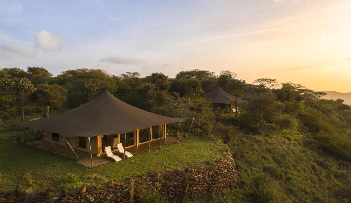 Ariel view of Luxury Safari Tent
