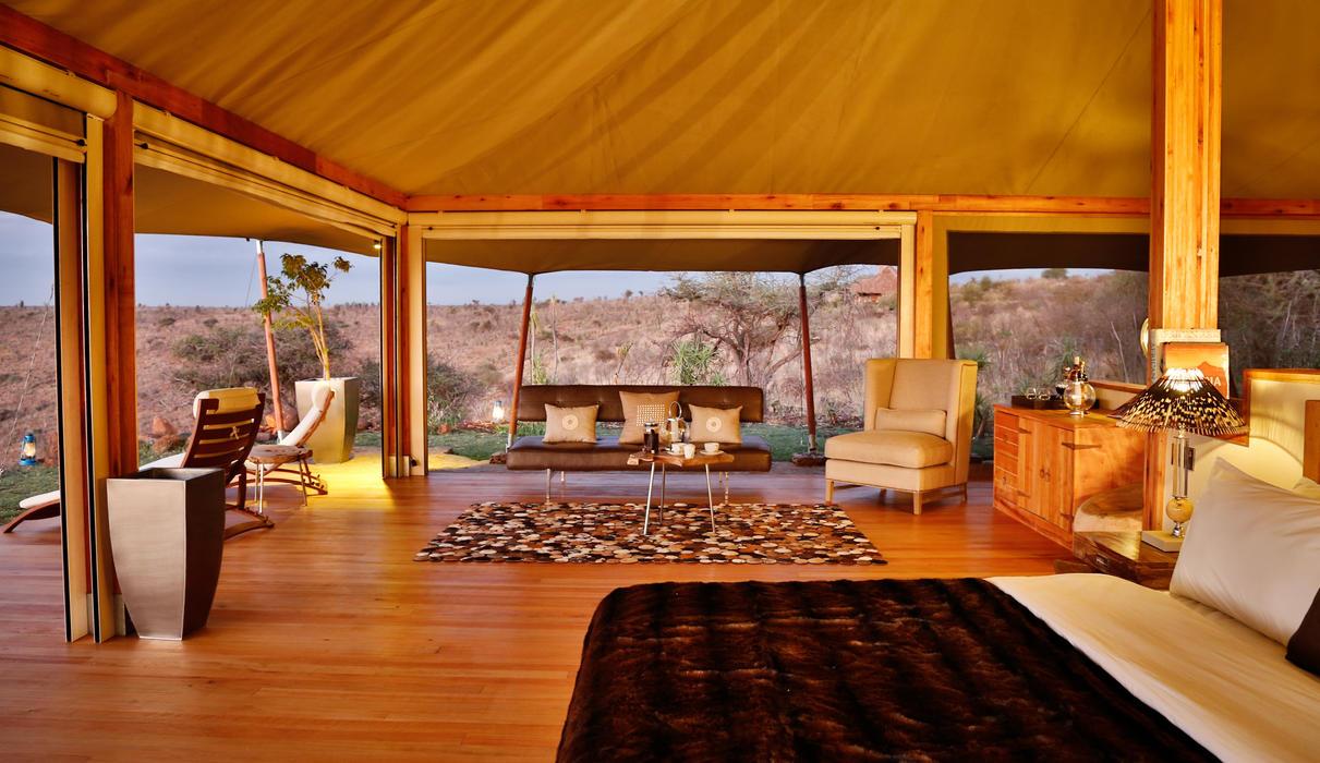Large double ensuite tents