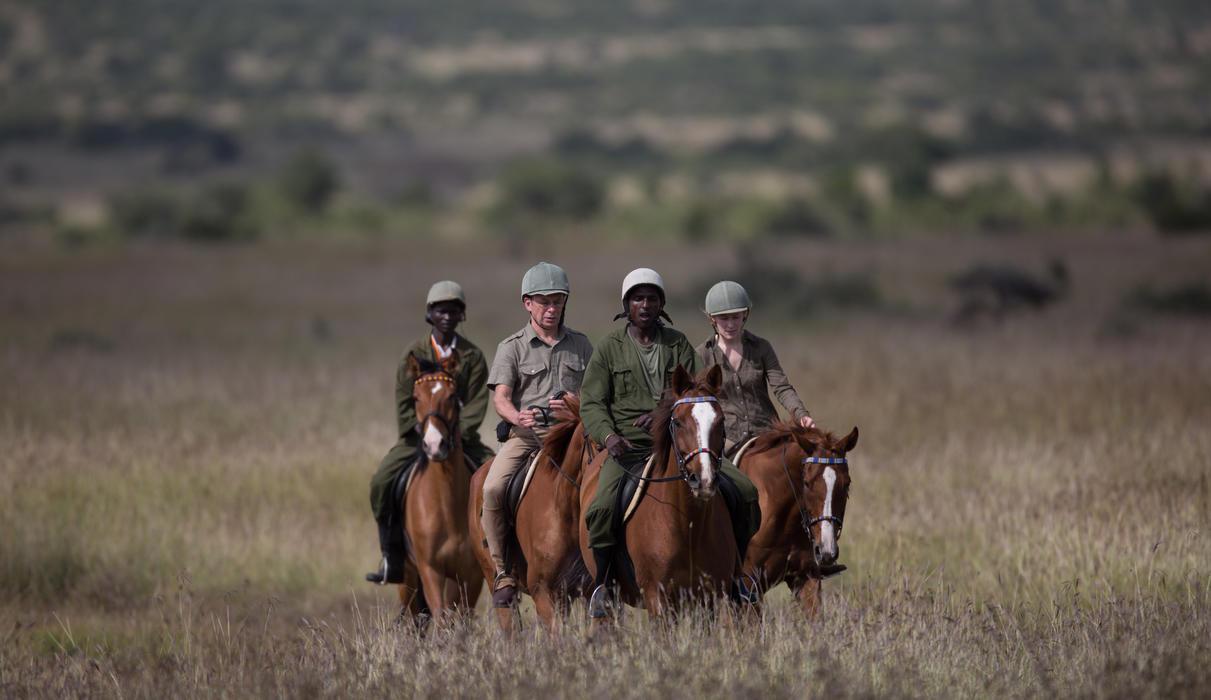 Horse-riding across Loisaba