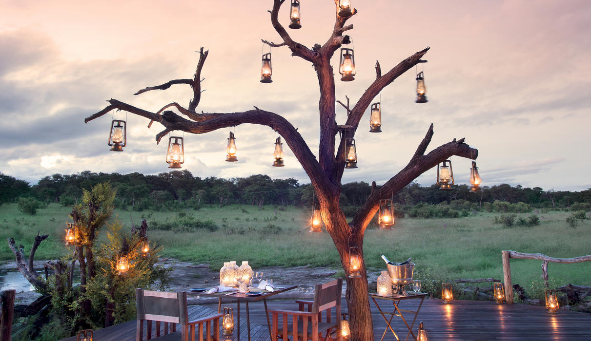 Romantic dinner at Hwange