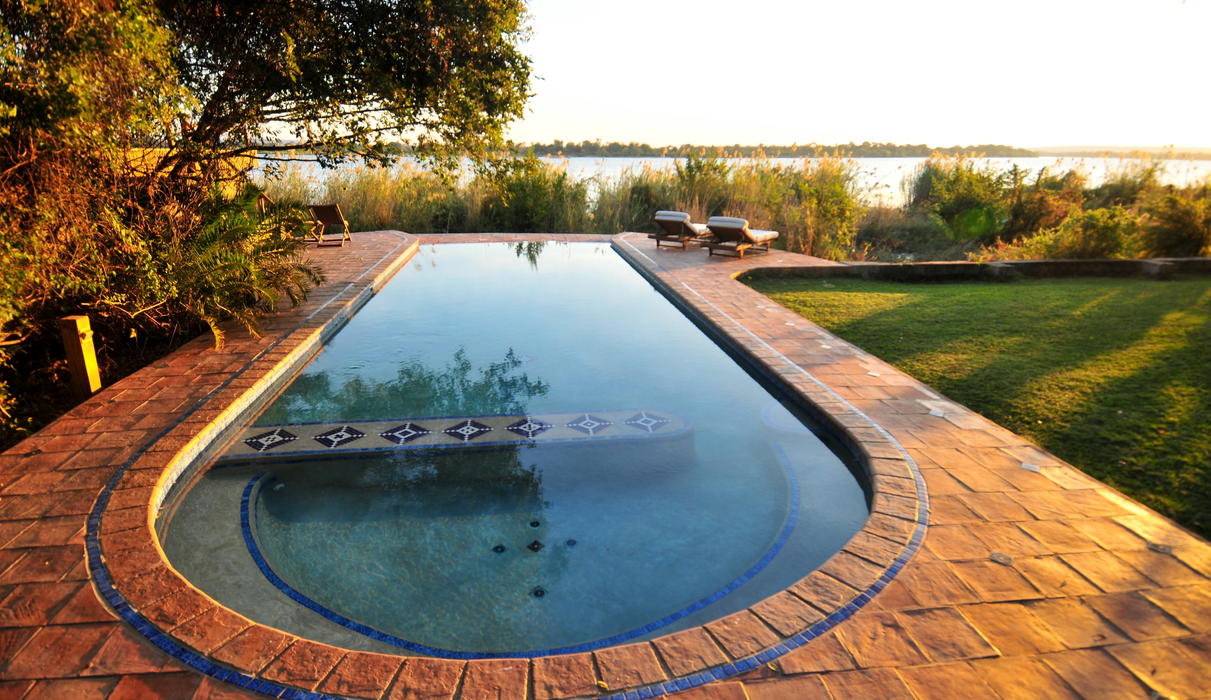 Looking out over the Zambezi towards the sunset