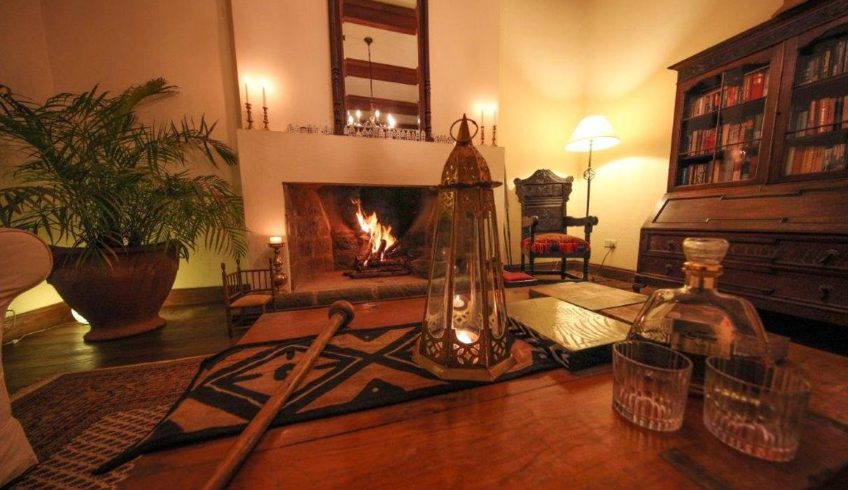 Fireplace at the main lounge