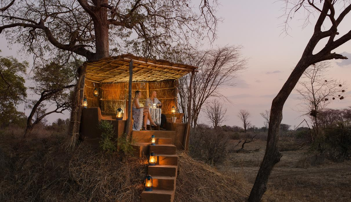 We are able to do romantic private dinners on our anthill lookout