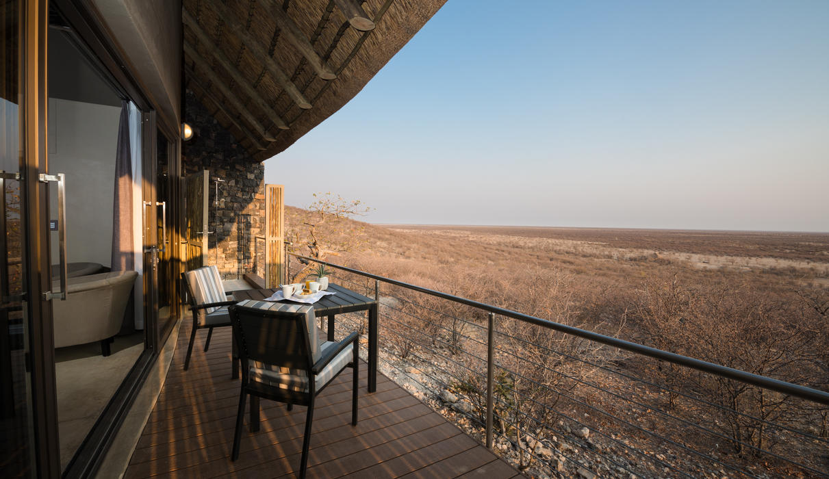 Stunning panoramic views and mingling of wildlife enjoyed from the comfort of your room
