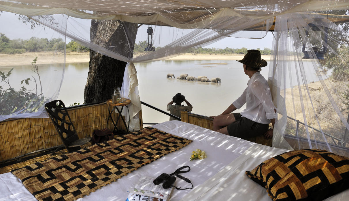 A very special activity offered at Kaingo Camp are sleep-outs up the elephant hide. Prior reservations are recommended.