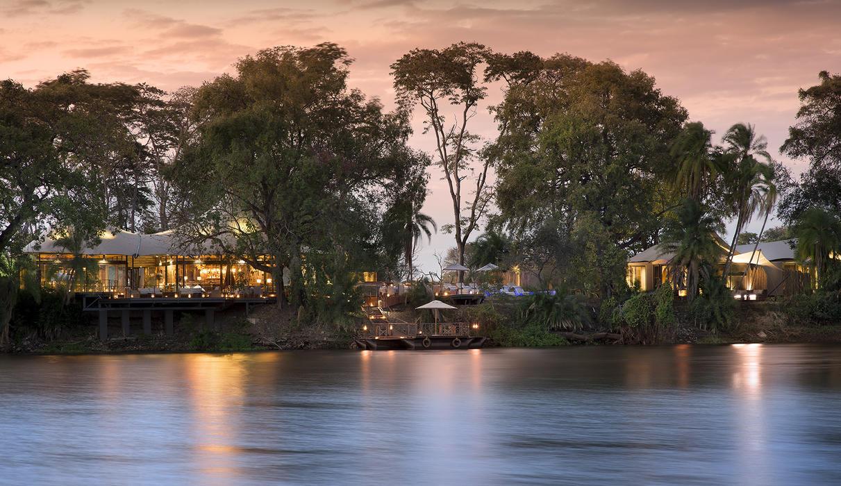 Thorntree River Lodge from the Zambezi