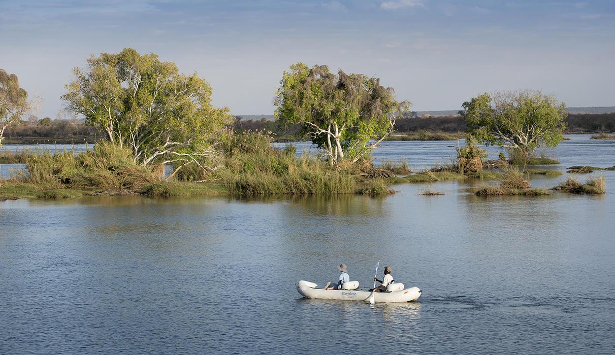 Canoe on the Zambezi