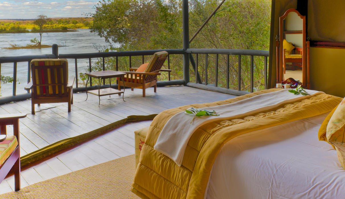 View from one of our Seven Rooms overlooking the Zambezi River