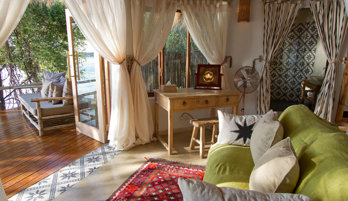 Our expansive cottages are set right on the Zambezi River