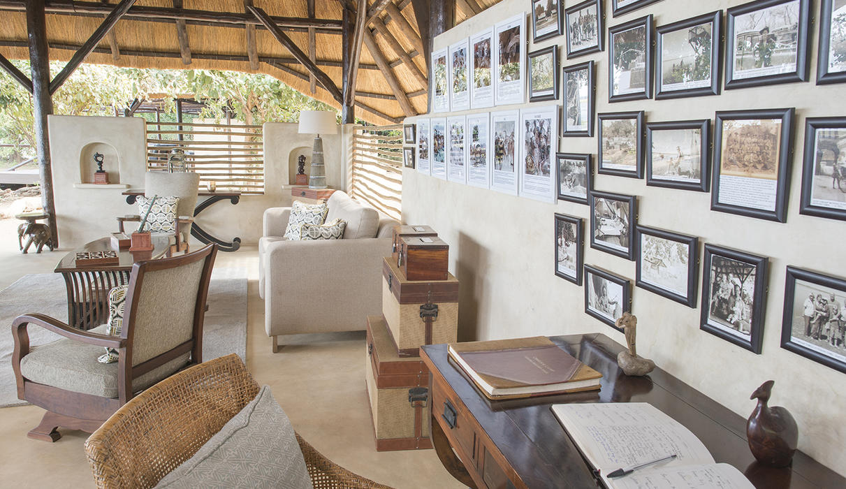 Chiawa Camp - enticing and educational decor