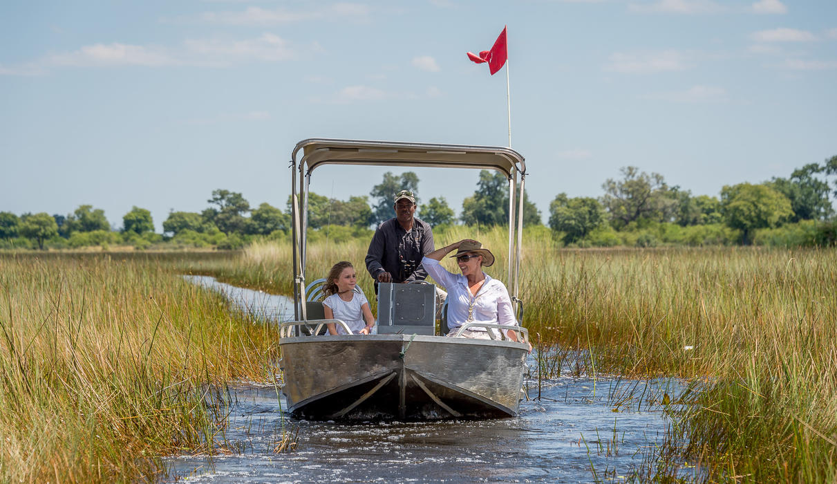 Boating is a great way to enjoy the Delta landscapes and wildlife