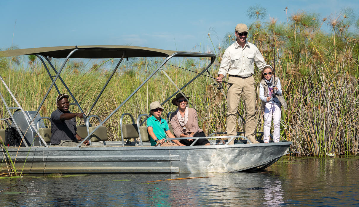 Catch-and-release fishing at Little Vumbura