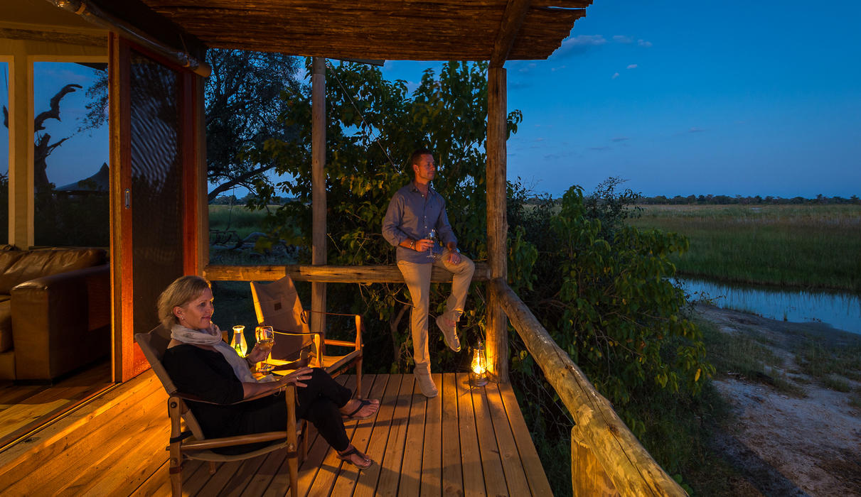 Enjoy a pre- or post-dinner drink on your private deck