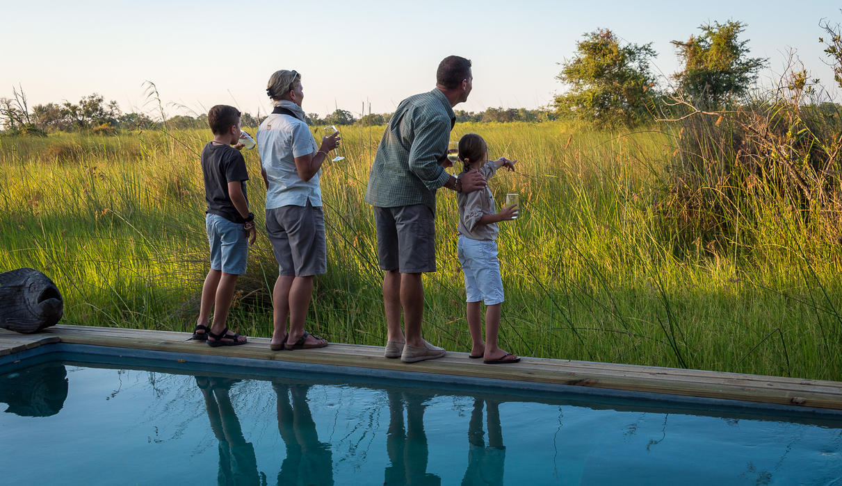 Little Vumbura is ideal for a family safari