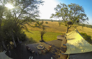 Rhino Walking Safaris Aerial Plains Camp
