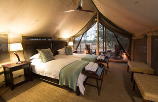 Rhino Walking Safaris - tent interior