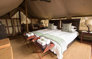 Rhino Walking Safaris Plains Camp - tent interior
