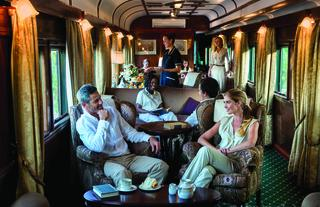 Afternoon tea in the lounge car