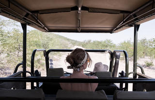 Ongava Game Reserve game drive.