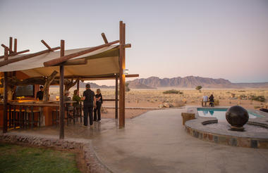 Desert Camp Bar & Pool Area