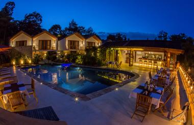 The Retreat Bar and Pool at Night