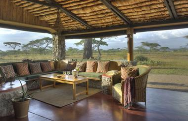 Central lounge at Ndutu Safari Lodge