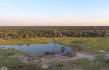 Ariel view of The Hide and our water hole