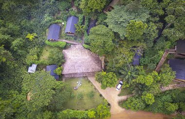 Buhoma Lodge - Aerial View