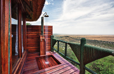 Outside Shower at Soroi Serengeti Lodge