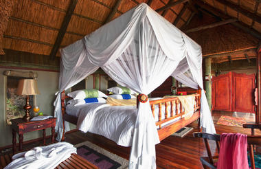 Bedroom in Chalet at Soroi Serengeti Lodge