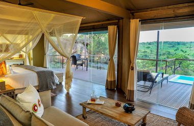 Tented Suites with private plunge pools