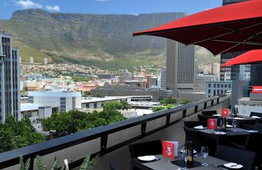 Table Mountain View from rooftop terrace, 11th floor
