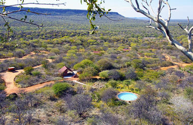 Waterberg Plateau Campsite - View from a hill