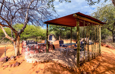 Waterberg Plateau Campsite - Pitch with shade roof