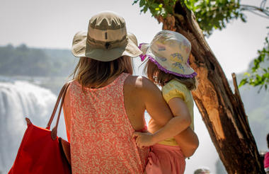 Mother and Child view Victoria Falls