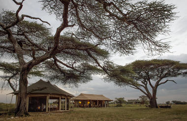 Namiri Plains - exterior view of lounge and dining tent