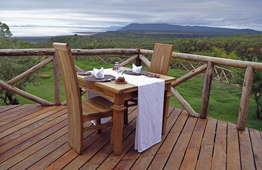 Dining at Escarpment Luxury Lodge