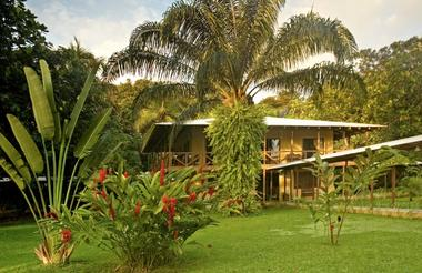 Beautiful tropical gardens blend with the vast natural environment