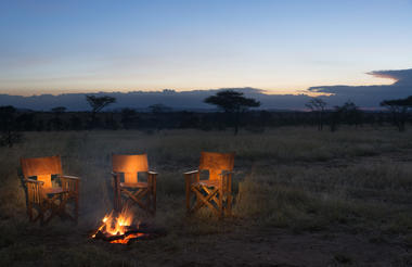Fireside in the Serengeti