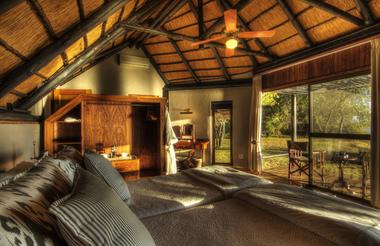 Beautifully furnished thatched chalets