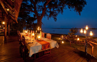 "Chiawa Camp - ""Best in Zambia"" fine dining in a gorgeous setting"