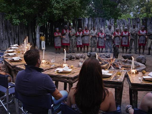 African Boma experience (place of eating)