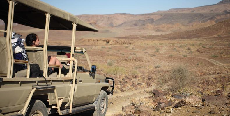 Fish River Canyon excursion in open 4x4 vehicles