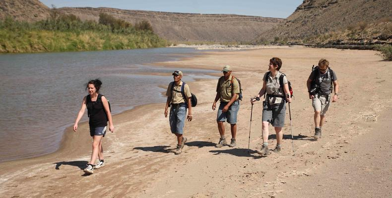Hiking along the Fish River